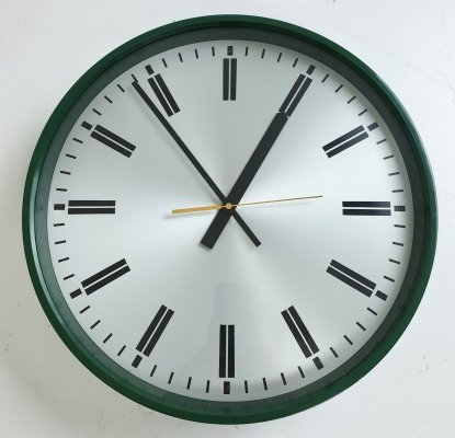 Vintage Green Wall Clock by Robert Welch, England 1979