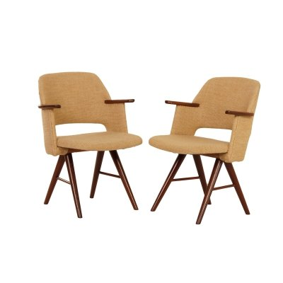 Pair of FT30 Dining Arm Chairs by Cees Braakman for Pastoe, 1950s