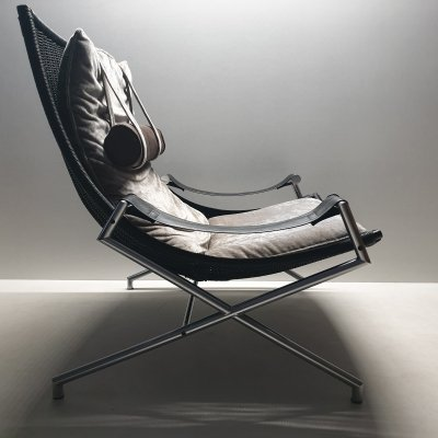 Model DES2021 lounge chair by Gerard van den Berg for Rohé Noordwolde, 1980s