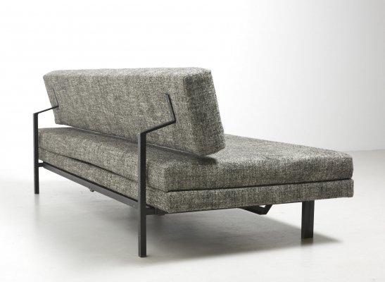 Modernist Daybed in Black Steel manufactured by Tecta, 1950s