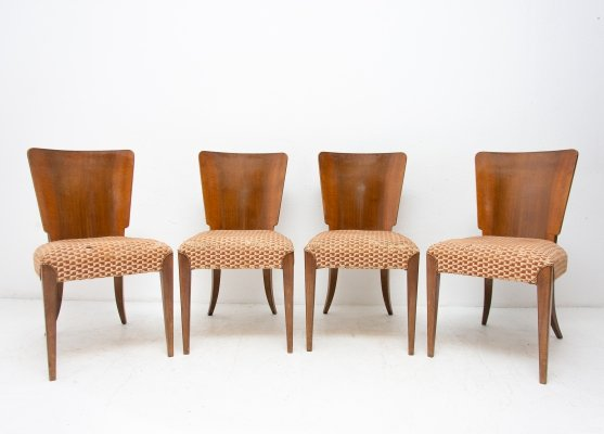 Set of 4 dining chairs by Jindřich Halabala for UP Závody, 1950s