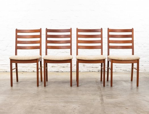 Set of 4 KS Møbler dining chairs, 1960s