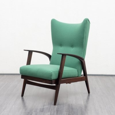 Rare vintage wing chair by Knoll Antimott, 1950s