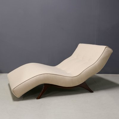 Mid-Century Modern Wave Chaise Lounge Chair by Adrian Pearsall for Craft Associates