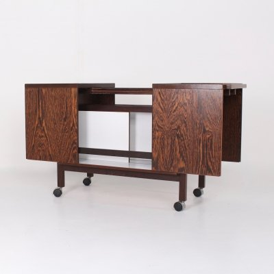 Wenge folding bar cart by Niels Erik & Glasdam Jensen