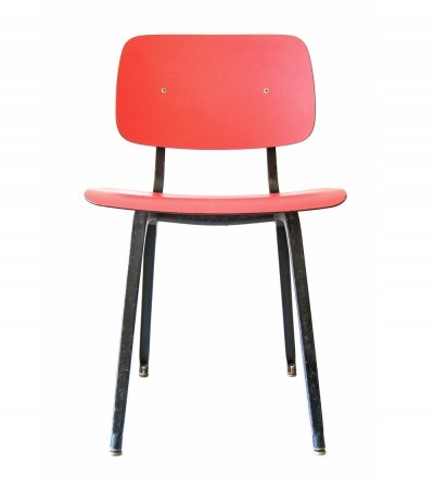 Vintage bordeaux red Revolt chair by Friso Kramer