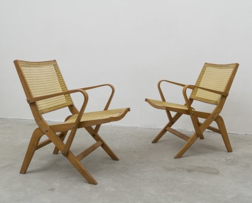 Pair of Prototype Armchairs mod. 100 by Niko Kralj for Stol Kamnik, 1953