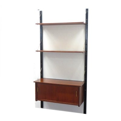 Vintage wall system with two shelves & a cupboard, 1960s