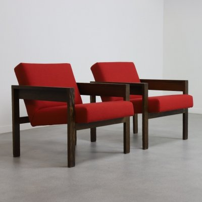 Pair of SZ25 / SZ80 lounge chairs by Hein Stolle for Spectrum, 1960s
