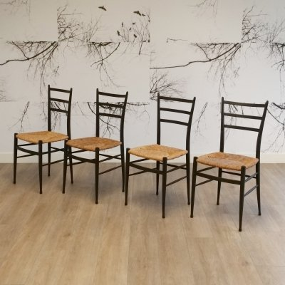 Set of 4 Spinetto Chairs from Chiavari, Italy 1950s