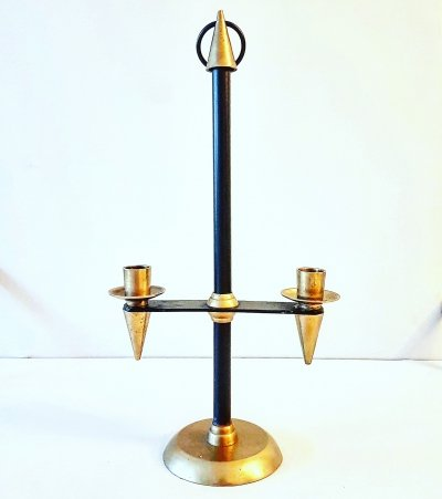 Mid century design candle holder, Italy 1950s