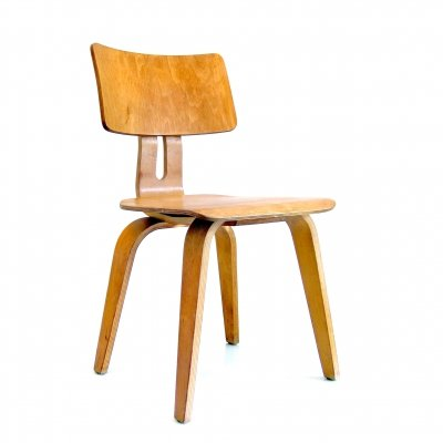 2 x Plywood Combex chairs by Cees Braakman for Pastoe, 1950s