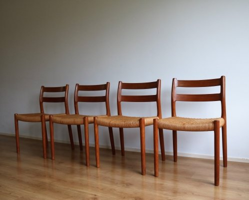 Set of 4 Niels O. Møller dining chairs, 1960s