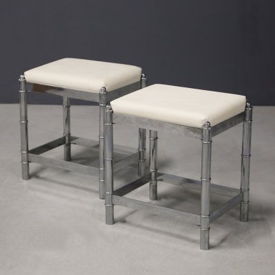 Pair of French Art Deco style stools from the 1970s
