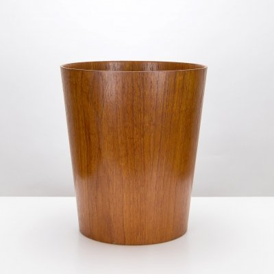 Teak Waste Paper Basket by Martin Åberg for Servex, Sweden 1960s