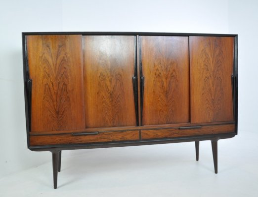Rosewood 'Model no. 13' Highboard by Gunni Omann for Omann Junn, 1960s