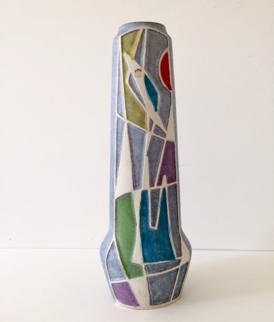 Abstract Ravenna Vase by Bodo Mans for Bay Keramik, 1960s
