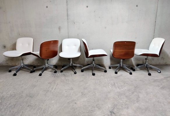 Vintage desk chairs or conference chairs by Ico Parisi for MIM Italy, 1960s