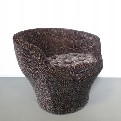 Cocktail chair with velvet print, 1970s