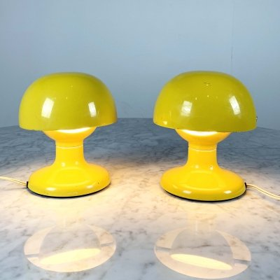 2 Yellow Jucker 147 Table Lamps by Tobia & Afra Scarpa for Flos, 1960s