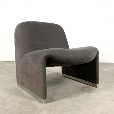 Grey Alky Lounge Chair by Giancarlo Piretti for Castelli, 1970s