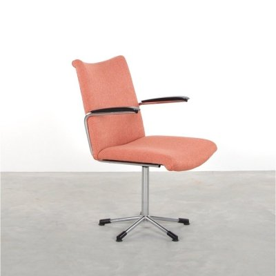 De Wit 3314 officechair in Pink, 1950s