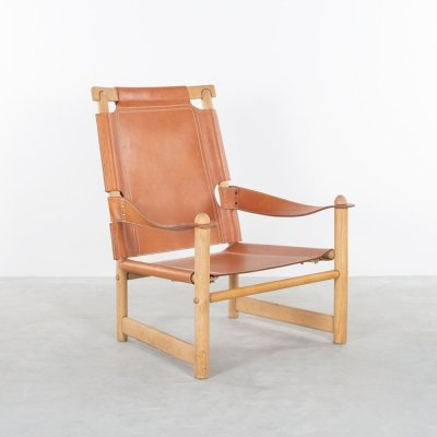 Safari leather armchair