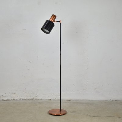 Brass 'Studio' floor lamp by Jo Hammerborg for Fog & Mørup, Denmark 1960's