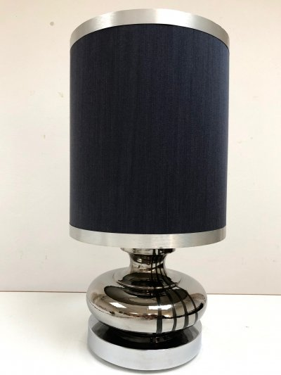 Mid century modern desk lamp with original shade, Italy 1970's