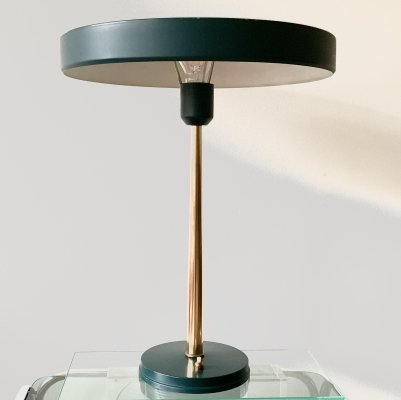 Model Timor 69 in dark green with brass by Louis Kalff for Philips, 1960's