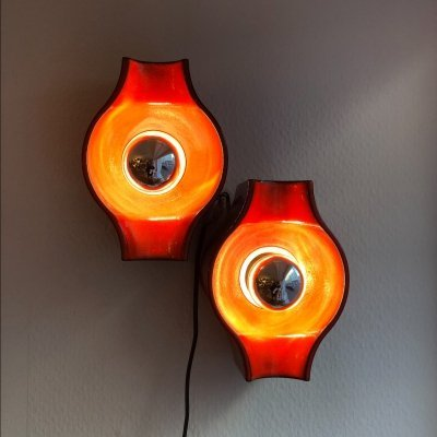 Set of two Ceramic Wall Lamps, 1970s