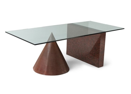 Kono Dining Table by Lella & Massimo Vignelli for Casigliani, 1980's