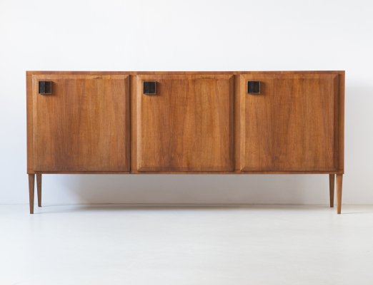 Italian Teak Sideboard With Brass Handles, 1950s