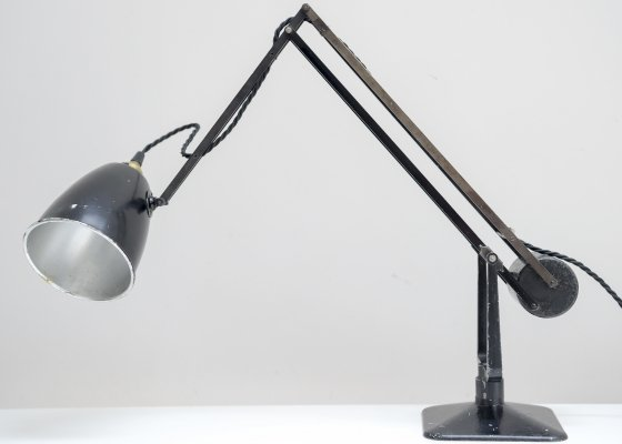Early Hadrill & Horstmann Counterpoise Worklamp, England 1940s