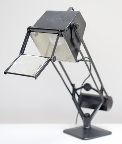 Early Hadrill & Horstmann 'Pluslite' Table Lamp with Magnifying Glass, 1940s