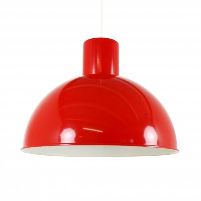 Red Bunker pendant by Jo Hammerborg for Fog & Mørup, 1970s