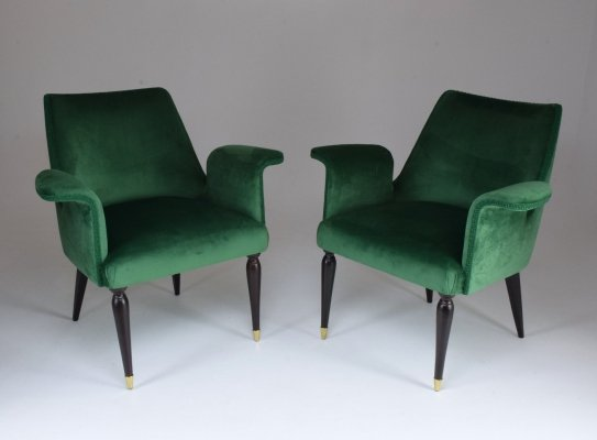 20th Century Pair of Italian Armchairs, 1940s