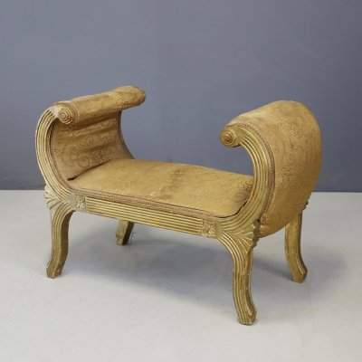Bench & Pouf French Art Deco Period, Early 1920s