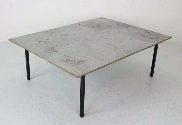 Dutch Minimalistic Aluminium Coffee Table, 1990