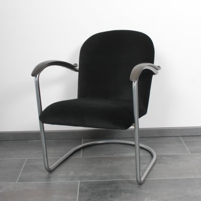 Gispen 414 chair with gisolite armrests, 1930's