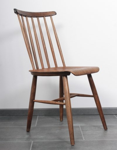 Set of 8 oak Fanett chairs by Tapiovaara