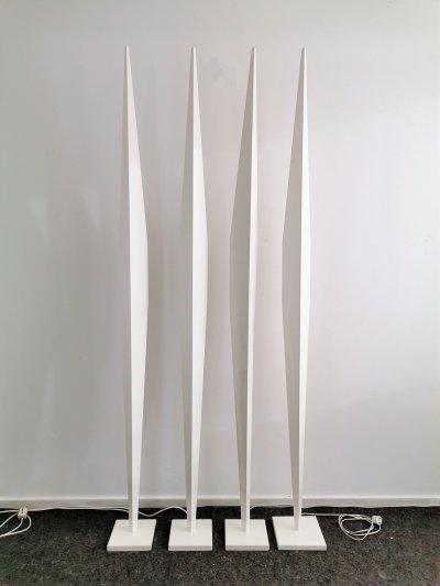 Sculptural Metal Floor Lamps, 1980s