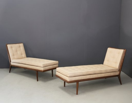 Pair of T.H. Robsjohn-Gibbings Chaise lounge for Widdicomb, 1950s