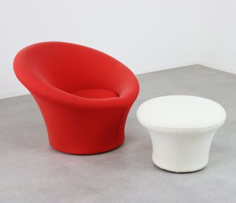 'Mushroom' lounge chair + ottoman by Pierre Paulin for Artifort, NL 1960s