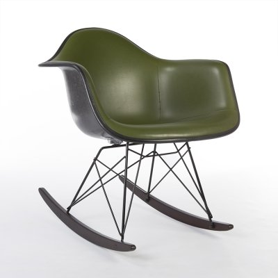 Olive Green Herman Miller Original Vintage Eames RAR Rocking Arm Chair