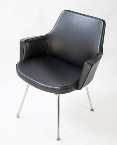 Lounge Chair in black Leatherette from the 60s