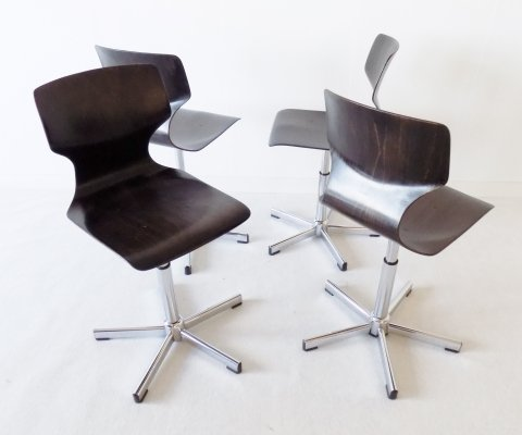 Flötotto set of 4 adjustable chairs by Adam Stegner