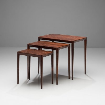 Set of Nesting Tables by Erik Riisager Hansen for Haslev Møbler, Denmark 60s-70s