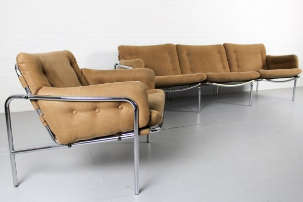 Osaka 3 seater sofa & matching lounge chair by Martin Visser for Spectrum, 1960s