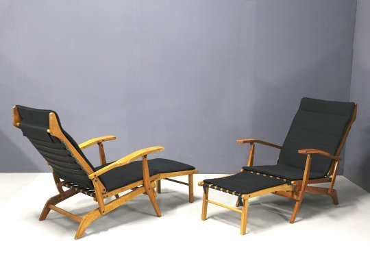 Pair of MidCentury Lounge Chairs, 1950s